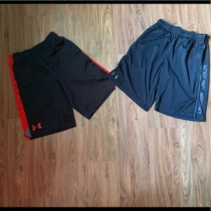 2 pair youth medium Under Armour shorts